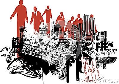 Corporate power illustration.