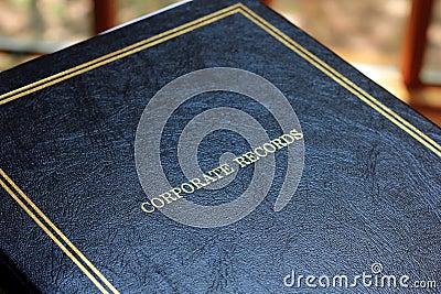 Corporate Records Book