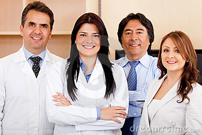 Corporate team at the hospital