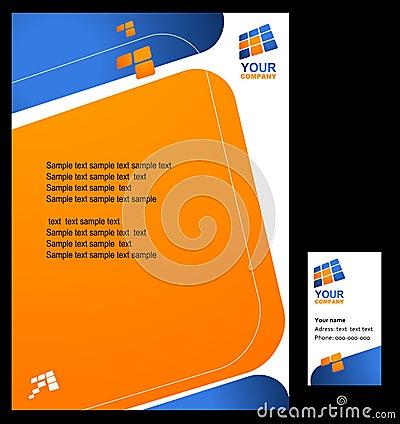 Corporate template design