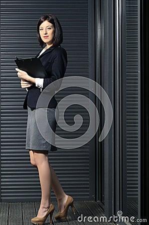 Corporate woman full body