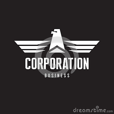 Corporation - Eagle Logo Sign in Classic Graphic Style