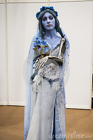 Corpse Bride cosplayer Editorial Stock Image
