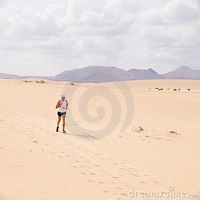 CORRALEJO - OCTOBER 30:  Runners Editorial Photo