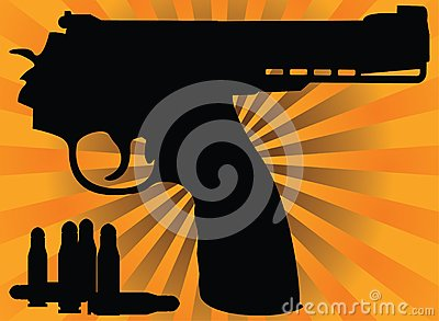 Correct Pistol And Cartridges Stock Photo - Image: 18242650