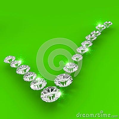 Correct sign shape diamond art illustration