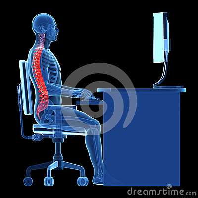 Free Correct Sitting Posture Stock Photography - 30727742