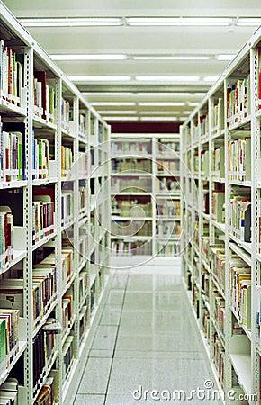 Corredor chinês da biblioteca