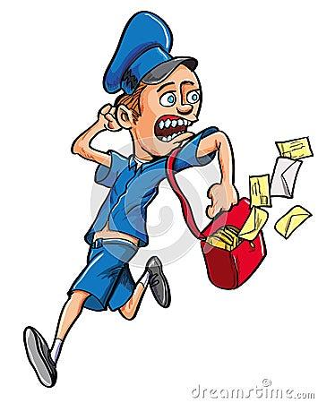 Corredor do carteiro dos desenhos animados