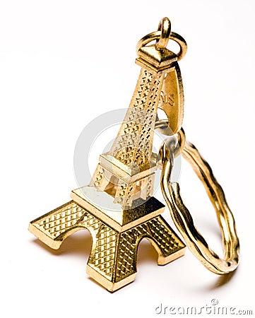 Corrente chave da lembrança da torre Eiffel