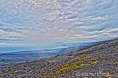 Corrente da estrada das crateras no console grande Havaí