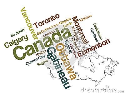 Correspondencia y ciudades de Canadá