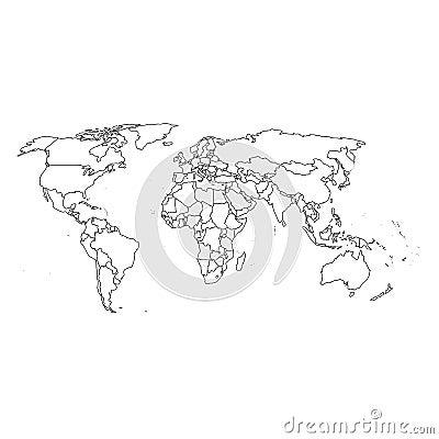 Correspondencia y fronteras detalladas de mundo