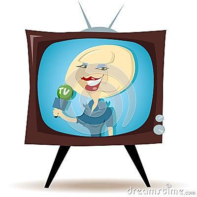 Correspondent on the TV