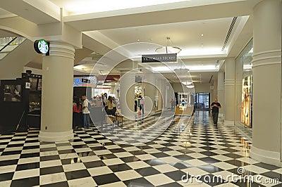 Corridoio del centro commerciale Immagine Editoriale