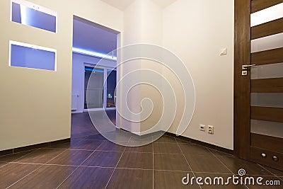 Corridoio del piano moderno