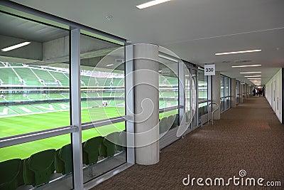 Corridor in a big empty stadium Aviva Editorial Photo