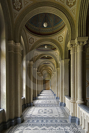Corridor with colonnade