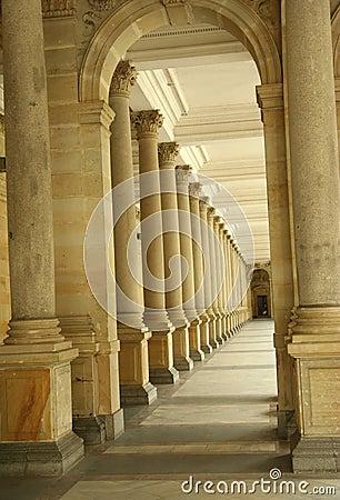 Corridor of columns, hallway