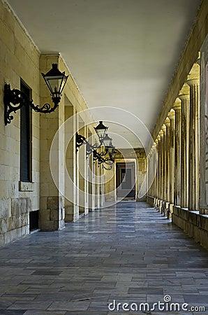 Corridor in Corfu