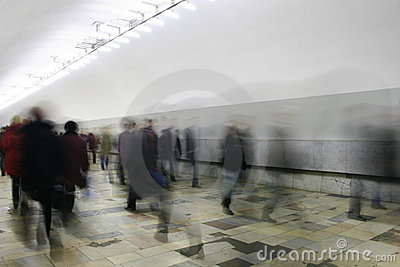 Corridor crowd
