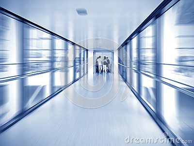 Corridor and the crowd