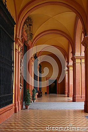 Free Corridor In The Royal Alcazar, Sevilla, Spain Stock Photos - 33820563