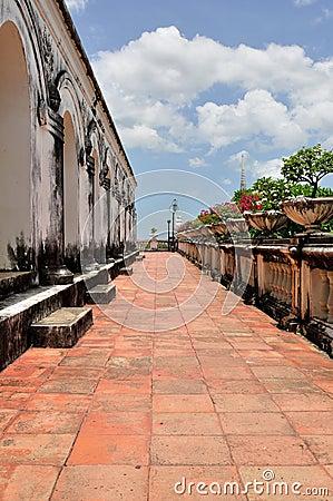 Corridor of Khao Wang Royal Palace