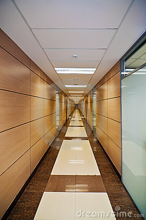 Corridor in modern office