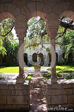 Garden view in a Monastery.