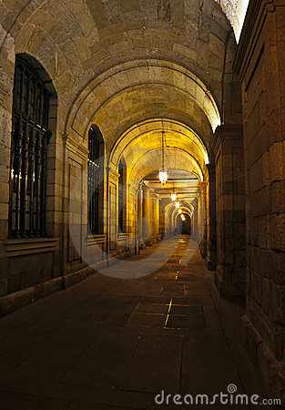 Corridor at night