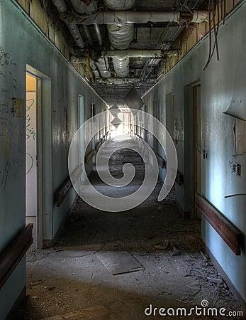Corridor in an old hospital
