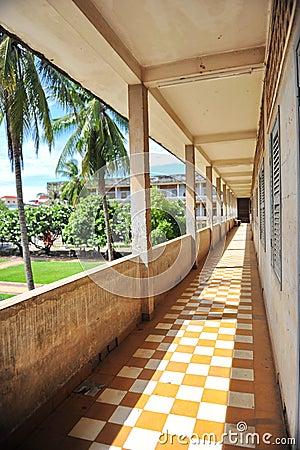 Corridor of S21 Tuol Sleng Genocide Museum