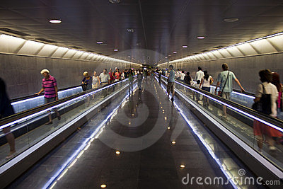 Corridor in subway Editorial Stock Image