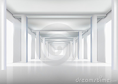Corridor. Vector illustration.