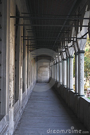 Corridor view of Blue Mosque