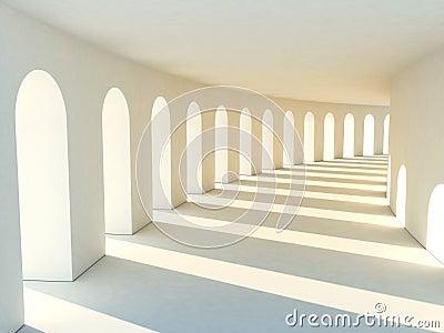 Corridor in warm tones