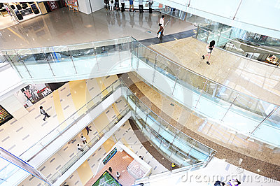 Corridors in shoppingmall Editorial Photo