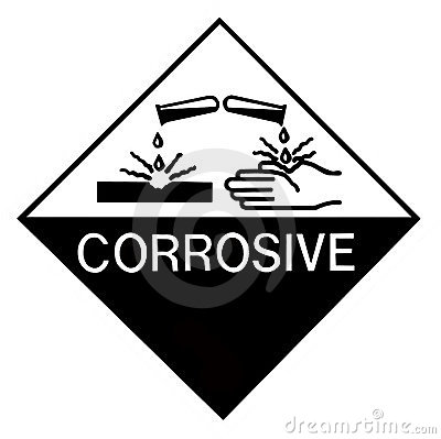 Corrosive Chemical Label
