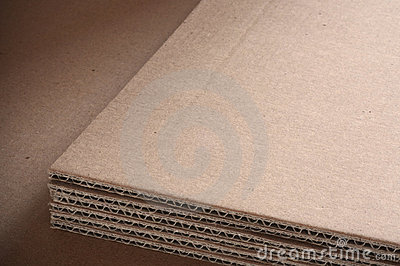 Corrugated cardboard sheets background