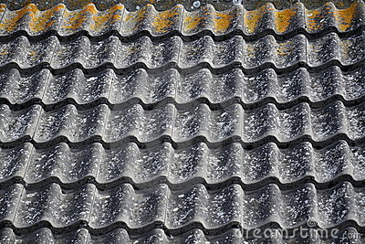 Corrugated ceramic roof pattern