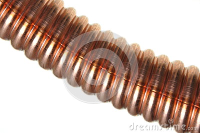 Corrugated copper tube