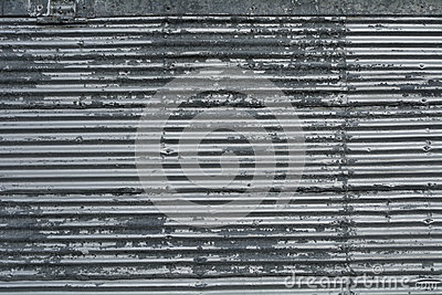 Corrugated Metal Sheet With Rivets Pattern Texture