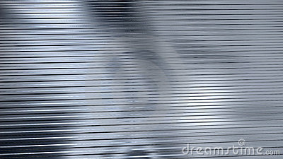 Corrugated sheet metal, reflecting light