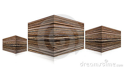 Corrugated stacked cardboard