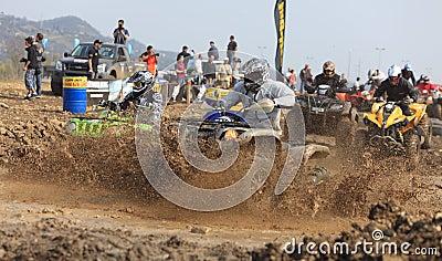 Corsa di ATV Fotografia Editoriale