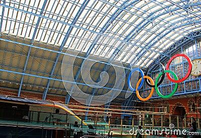 Corsa di Olimpiadi 2012 di Londra Immagine Editoriale