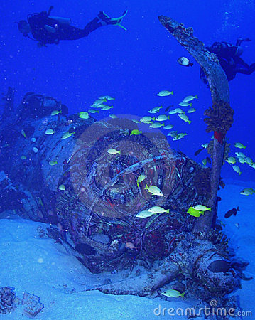 Free Corsair Wreck Diving Royalty Free Stock Photos - 17546468