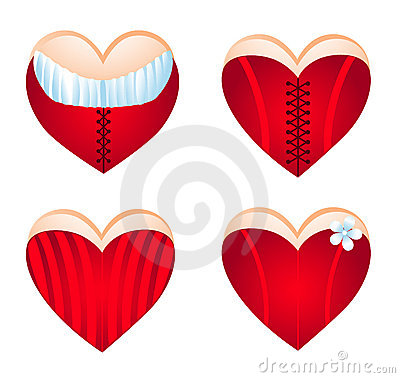 Free Corseted Heart, Icon Set. Stock Photo - 7732700