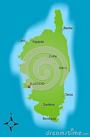 Corsica mapa